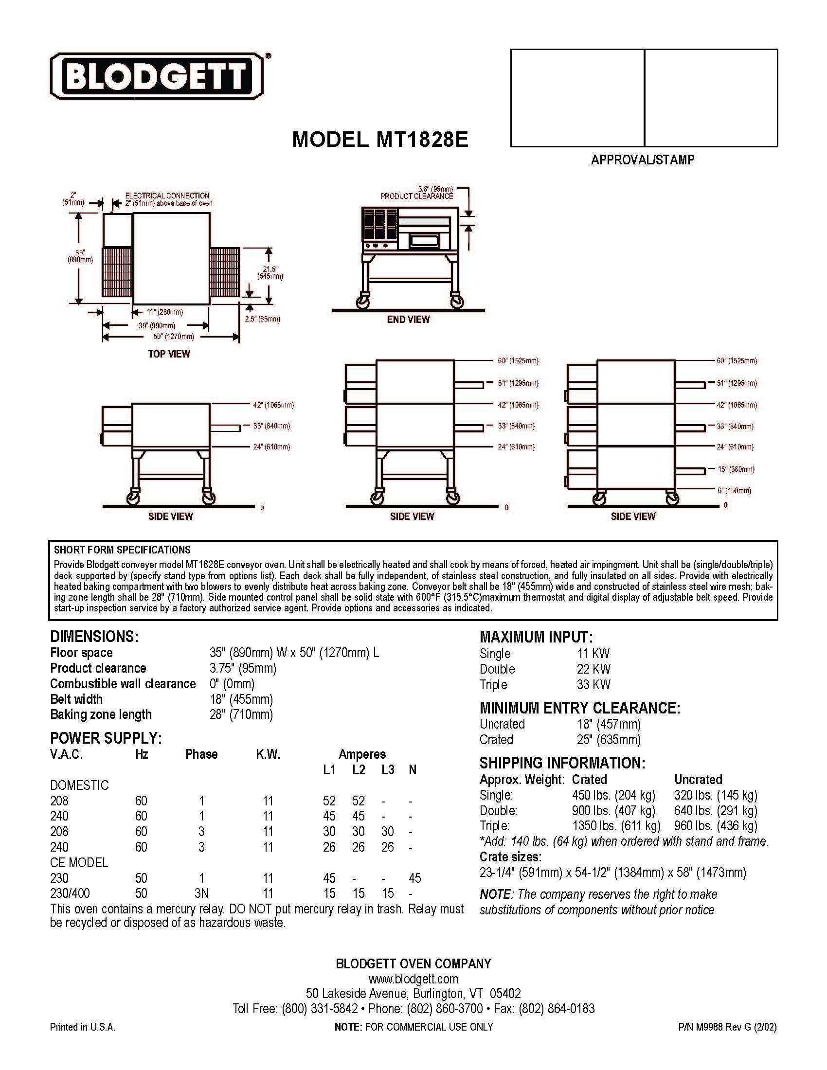 Blodgett Mark V Wiring Diagram Wiring Library
