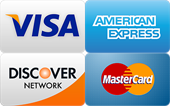 visa, amex, discover and MasterCard credit card logo