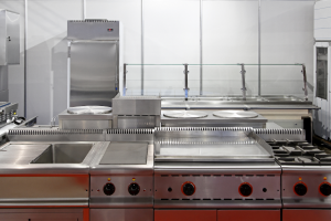 Used kitchen equipment in a restaurant in Palatine, Illinois