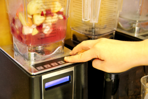 Commercial smoothie blender at a restaurant in La Grange, Illinois