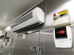 Commercial freezer in the kitchen of a restaurant in Homer Glen, Illinois